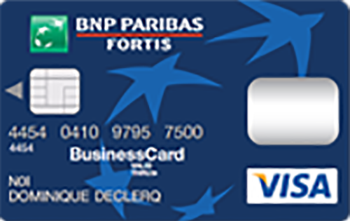 BNP Paribas Fortis Visa Business Blue